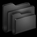 128x128px size png icon of Folders Black Folder