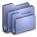 128x128px size png icon of Folders Blue Folder
