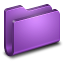 128x128px size png icon of Generic Purple Folder