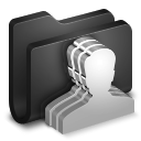 128x128px size png icon of Group Black Folder
