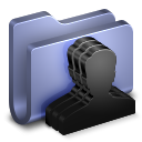 128x128px size png icon of Group Blue Folder