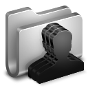 128x128px size png icon of Group Metal Folder