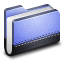 Library Blue Folder Icon