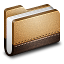 128x128px size png icon of Library Brown Folder