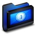 128x128px size png icon of Movies Black Folder