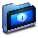 128x128px size png icon of Movies Blue Folder
