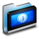 128x128px size png icon of Movies Metal Folder
