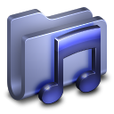 128x128px size png icon of Music Blue Folder