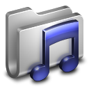 Music Metal Folder Icon