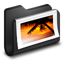 128x128px size png icon of Photos Black Folder