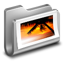 128x128px size png icon of Photos Metal Folder