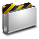 128x128px size png icon of Projects Metal Folder