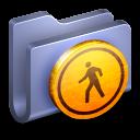 128x128px size png icon of Public Blue Folder