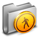 128x128px size png icon of Public Metal Folder
