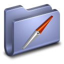 128x128px size png icon of Sites Blue Folder