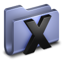 128x128px size png icon of System Blue Folder