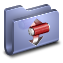 128x128px size png icon of Torrents Blue Folder