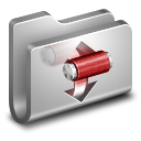 128x128px size png icon of Torrents Metal Folder
