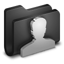128x128px size png icon of User Black Folder