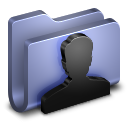 128x128px size png icon of User Blue Folder