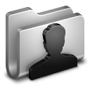 128x128px size png icon of User Metal Folder