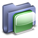 128x128px size png icon of iOS Icons Blue Folder