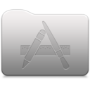 128x128px size png icon of Aluminum folder   Applications