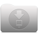 128x128px size png icon of Aluminum folder   Downloads