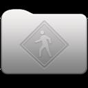 128x128px size png icon of Aluminum folder   Public