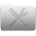 128x128px size png icon of Aluminum folder   Utilities