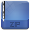 128x128px size png icon of archive zip
