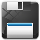 128x128px size png icon of floppy drive 3 12