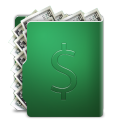 128x128px size png icon of dollar folder