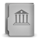 128x128px size png icon of Library alt