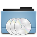 128x128px size png icon of Folder CD DVD