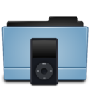 128x128px size png icon of Folder Ipod(Black)