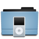 128x128px size png icon of Folder Ipod(White)