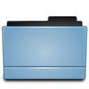 128x128px size png icon of Folder blue (Leopard)