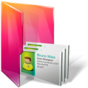 128x128px size png icon of Folders contacts