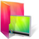 128x128px size png icon of Folders desktop
