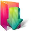 128x128px size png icon of Folders downloads