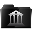 128x128px size png icon of Library