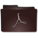 128x128px size png icon of Folders Acrobat b