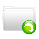 128x128px size png icon of Download folder