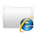 128x128px size png icon of IE7 folder