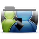 128x128px size png icon of AMSN Received