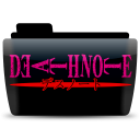 128x128px size png icon of Deathnote text