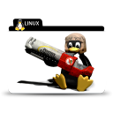 128x128px size png icon of Linux rocket