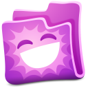 128x128px size png icon of pink folder