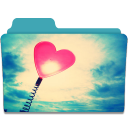 128x128px size png icon of Folder Heart